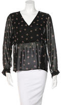 Maje Long Sleeve Printed Blouse w/ Tags