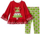 Rare Editions Baby Girl Tree Applique Top & Leggings Set