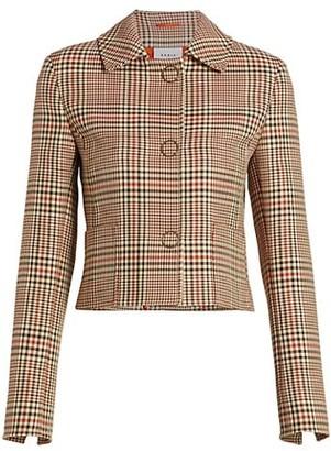 Akris Punto Glen Check Cropped Jacket