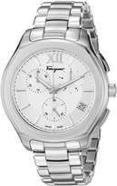 Salvatore Ferragamo Men's 'LUNGARNO CHRONO' Quartz Stainless Steel Casual Watch, Color:d (Model: FLF990015)