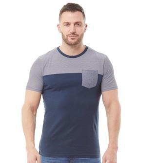 Onfire Mens Striped T-Shirt Navy