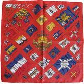 One Kings Lane Vintage Hermès Pavois Pochette Scarf w/Box