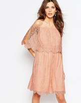 Vila Lace Bardot Double Layer Dress