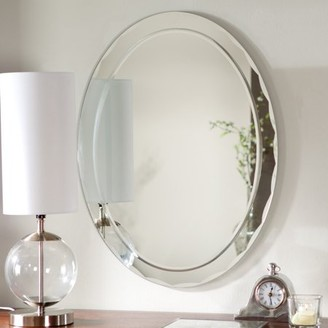 "Aldo Large 31.5 x 23.6"" Oval Bathroom Wall Mirror by Decor Wonderland"