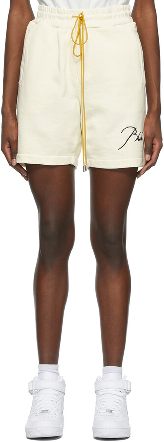 Thumbnail for your product : Rhude Off-White Logo Sweat Shorts