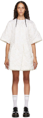 Simone Rocha White Asymmetric Waist Dress