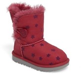UGG Girl's Bailey Button Ii Water-Resistant Genuine Shearling Stars Boot