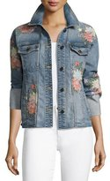 Joe's Jeans The Belize Floral Embroidered Denim Jacket, Indigo