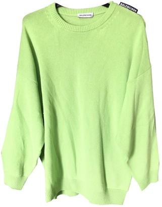 Balenciaga Green Cashmere Knitwear for Women
