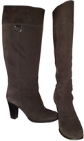 Max Mara Brown Suede Boots