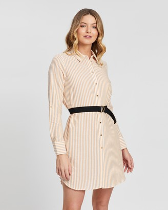 Vero Moda Matti Stripe LS Shirt Dress