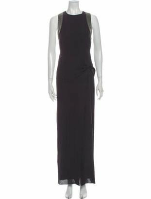 Brunello Cucinelli Silk Long Dress Grey
