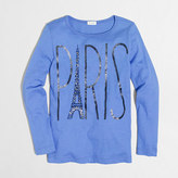 J.Crew Factory Girls' long-sleeve Paris keepsake T-shirt