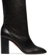 Aquazzura black 'Boogie 85' scrunch leather boot