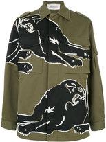 Valentino beaded jacket - women - Cotton/Polyester - 38