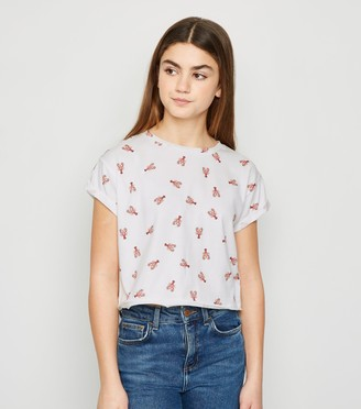 New Look Girls Lobster Print T-Shirt