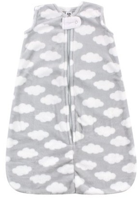 Hudson Baby Wearable Safe Sleep Blanket Sleeping Sack and Bag, Gray Clouds, 12-18 Months