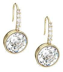 Kate Spade Women's Reflecting Pool 12K Yellow Goldplated Pavé Round Drop Earrings