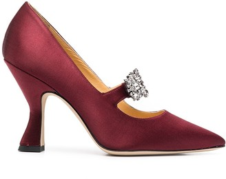 Giannico Penelope embellished-buckle pumps