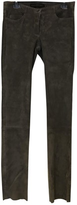 Ventcouvert Grey Suede Trousers
