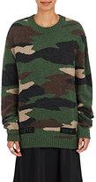 Off-White Women's Camouflage Wool Intarsia Sweater-DARK GREEN
