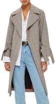 Topshop Women's Check Wrap Trench Coat