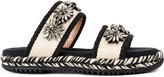 Marni embellished double strap mules - women - Cotton/rubber/glass - 36
