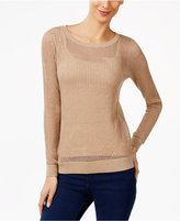 MICHAEL Michael Kors Metallic Mesh Sweater