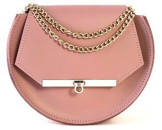 Angela Valentine Handbags Loel Crossbody Circle Bag In Blush Pink