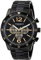 Akribos XXIV Men's AK768BK Multifunction Quartz Movement Watch with Black Dial and Stainless Steel Bracelet