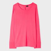 Paul Smith Women's Coral Button-Back Merino Wool Sweater