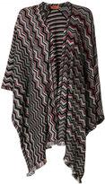 Missoni geometric knitted shawl