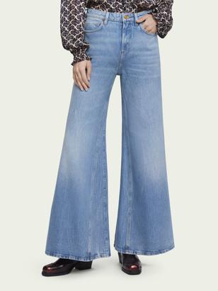 Scotch & Soda High-rise extra wide-leg jeans Blue Butter | Women