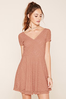 Forever 21 FOREVER 21+ Crochet Lace A-Line Dress