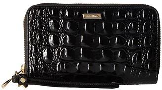 Brahmin Melbourne Zora Wristlet (Black) Handbags