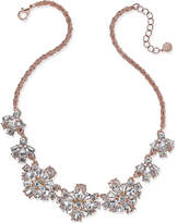 Charter Club Rose Gold-Tone Floral Crystal Necklace, Only at Macy's