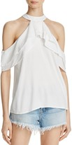 Band of Gypsies Ruffle Cold-Shoulder Top