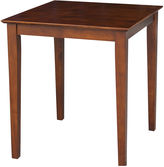 Asstd National Brand Solid Wood Top With Shaker Legs Square Dining Table