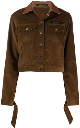 Rokh Cropped Button-Up Jacket