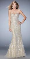 La Femme Sweetheart Lace Lining Prom Dress
