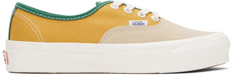 Vans Yellow and Beige OG Authentic LX Sneakers