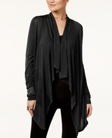 INC International Concepts Petite Open-Front Draped Illusion Cardigan, Created for Macy's