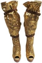 Louis Vuitton Gold Boots