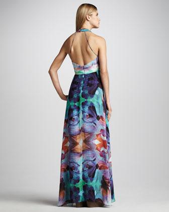 Nicole Miller Floral-Print Maxi Dress