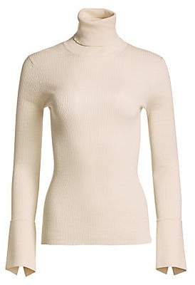 Proenza Schouler Women's Silk & Cashmere Ribbed Turtleneck