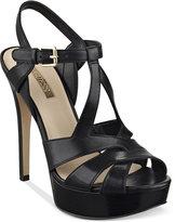 GUESS Women's Kymma Strappy Platform Dress Sandals