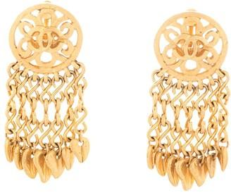 Chanel Pre Owned 1995 CC tassel earrings