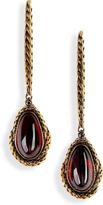 Alexander McQueen Cabochon Drop Earrings
