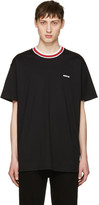 Givenchy Black Contrast Collar T-Shirt