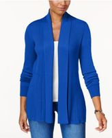 Karen Scott Ribbed Open-Front Cardigan, Only at Macy's